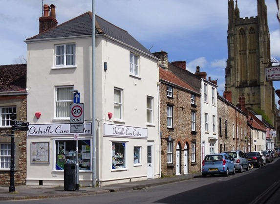 Oakville Care Centre retail shop in Wells, Somerset.